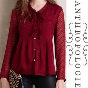 Anthropologie Meadow Rue Mason Silk Blouse